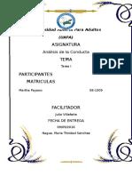 Tarea I-Analisis de La Conducta-martha Payano