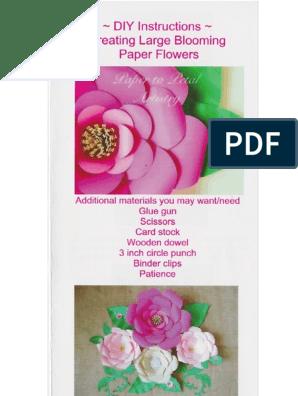 Instructions Paper Flowers Pdf