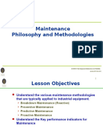 Maintenance Philosophy and Methodologies