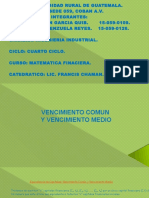 Vencimiento Medio, Exposicion de Matematica Finaciera...