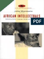 African Intellectuals_Rethinking Politics, Language, Gender and Development - Thandika Mkandawire (Editor)