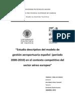 Estudio Descriptivo Del Modelo de Gestión Aeroportuario Espa