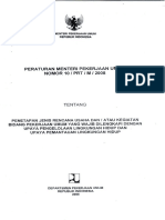 Permen_Permen PU No 10 Tahun 2008 - Penetapan Jenis Rencana Usaha Dan Atau Kegiatan Bidang Pekerjaan Umum Yang Wajib Dilengkapi Dengan UKL-UPL.pdf
