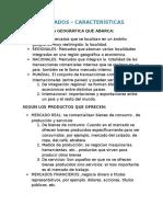MERCADOS-CARACTERISTICAS