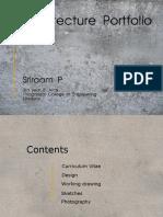 Architdcture Portfolio - Sriraam P