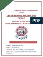 ENSAYO N°1 - DETERMINACION DE LAS CARACTERISTICAS DE UNA BOMBA HIDRAULICA