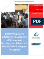 Examining JICA's Efficacy in Localization of Science and Mathematics Education