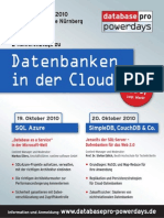 databasepro powerdays - Datenbanken in der Cloud