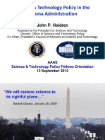 Science _ Technology Policy in the Obama Administration by John P. HOldren