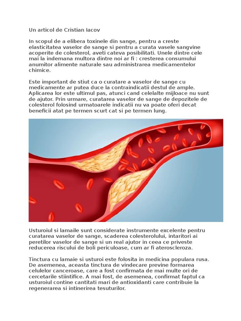 cu ce se curata vasele sanguine)