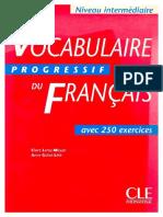 Vocabulaire Progressif Du Francais Intermediaire