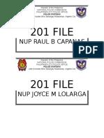 201 File Title Folder