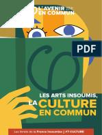 Livret Culture La France insoumise - Jean-Luc Mélenchon