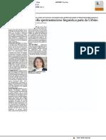 La nuova frontiera della sperimentazione linguistica parte da Urbino - Il Resto del Carlino del 15 febbraio 2017