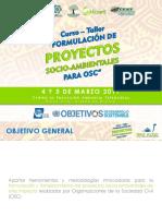 """Programa Curso-Taller """"Formulación de Proyectos Socio-Ambientales para OSC"""""""