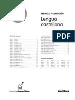 Indice Refuerzo y Ampliación 1º Lengua