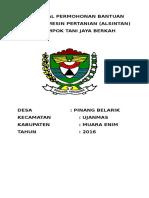 Cover Proposal Permohonan Bantuan