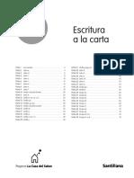 Indice Escritura a La Carta 1º Lengua