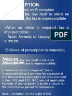 Tax 1 - Prescription