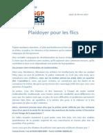 Tribune Yves Lefebvre, secrétaire général SGP Police FO