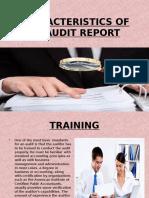 Characteristics of an Audit Report