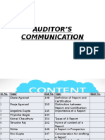 Auditor's Communication