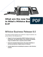 What Are the New Features in Mitel 8.0
