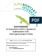 4. Questionnaire for Assessment of NGOs Capacities