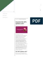 Detailed SSC MTS Syllabus 2017 - Testbook Blog