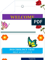 PSYCHOLOGY TEST - SELF ACCEPTANCE