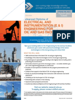 EIT Adv Dip Electrical Instrumentation Engineering Oil and Gas Facilities DEI Brochure