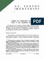 Ausgewählte Texte Zum Völkerrecht - Sobre El Derecho Internacional y de Guerra en Suarez.