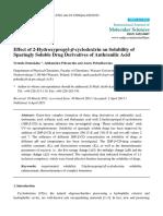 Effect of 2-Hydroxypropyl-β-cyclodextrin on Solubility o