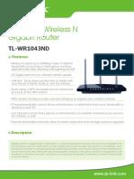 TL-WR1043ND V2 Datasheet