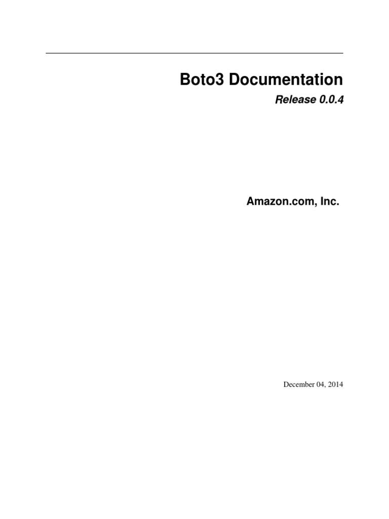 boto3 | Application Programming Interface | Command Line