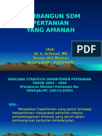 Membangun SDM Pertanian Yg Amanah LM3