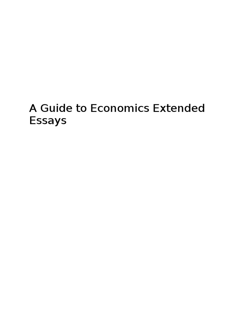 Economics extended essay help