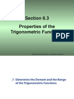 Section 6.3 Properties of the Trigonometric Functions (5)
