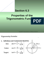 Section 6.3 Properties of the Trigonometric Functions...