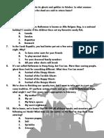 Quiz Halloween English-Spanish