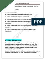 Annual Compliances Cos Act 2013 Calender eBook