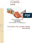 Conversion Into Limited Liability Partnership (1)