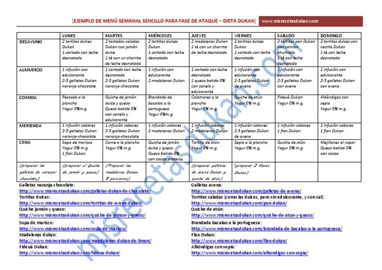 recetas fase ataque dieta dukan pdf