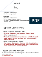types of law review