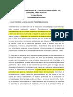 E.P. Consideraciones Acerca Del Concepto y Proceso