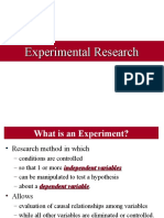 Research Experiments
