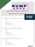 Media Accountability Survey