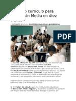 El Nuevo Currículo Para Educación Media en Diez Claves