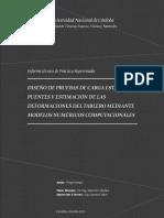 Diseño de Prueba Carga Estatica para Puentes