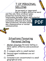 Concept of Personal Sellingmba4